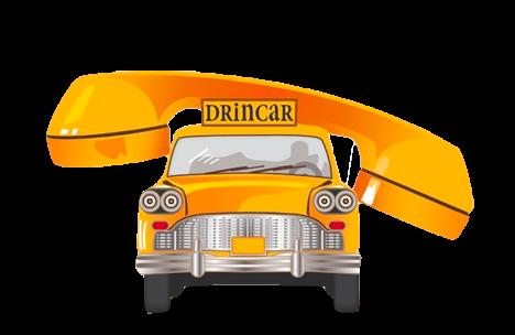 logo drincar con automobilina gialla